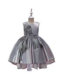 Lightening Silver Beauty Summer Kids Party Dress - babycouture.in