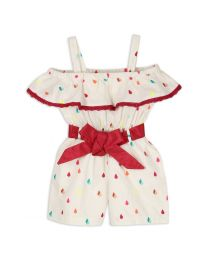 Lilpicks Adorable Printed Short Girls Jumpsuit-babycouture.in