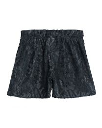 Lilpicks black Lace Girls Shorts-babycouture.in