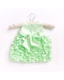 Little Pixie Butter Cream Mint Kids Party Dress-babycouture.in