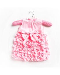 Little Pixie Butter Cream Pink Kids Party Dress-babycouture.in