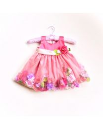 Little Pixie Raspberry Rose Garden Kids Party Dress-babycouture.in