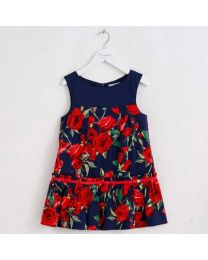 Love Of Blue & Roses Kids Dress-babycouture.in
