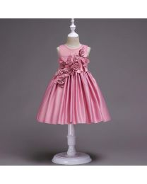 Lovely Pink Shade Elina Kids Dress-babycouture.in