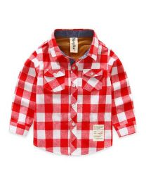 Lovely Red Big Checks Shirt-babycouture.in