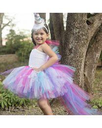 Lovely Unicorn Stylish Trail Tutu Dress-babycouture.in