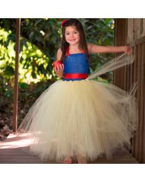 Lovely Yellow Princess Kids Tutu Dress-babycouture.in