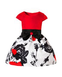 Lovely Black Roses Girls Dress-babycouture.in