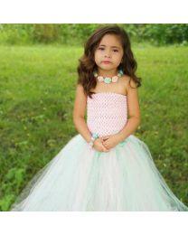 Mint & Pink Blooming Princess Tutu Dress-babycouture.in