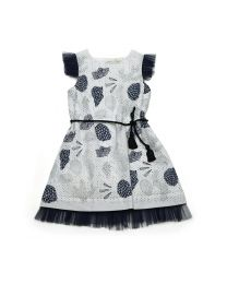 MT Deep Inside Ocean Frill Baby Girl Fossil Dress-babycouture.in