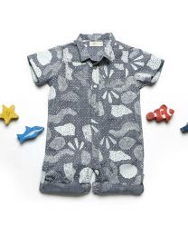 MT Deep Inside Ocean Fossil Baby Boy Romper-babycouture.in
