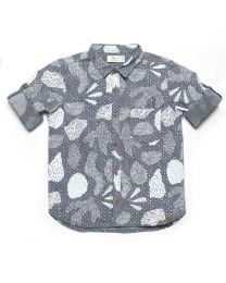 MT Deep Inside Ocean Grey Fossil Baby Boy Shirt -babycouture.in