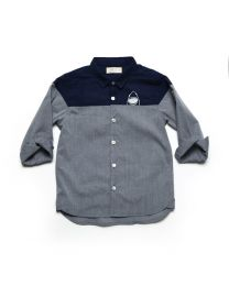 MT Deep Inside Ocean Navy Blue Abyss Baby Boy Shirt-babycouture.in