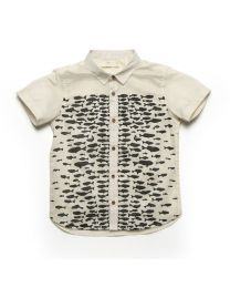 MT Deep Inside Ocean Off White Eel Fish Shirt Baby Boy Shirt-babycouture.in