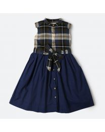 MT Marine Friend Blue Perch Dress Baby Girl Dress-babycouture.in