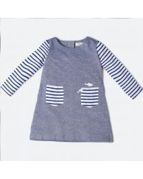 MT Marine Friend Blue Remora Baby Girl Tunic-babycouture.in