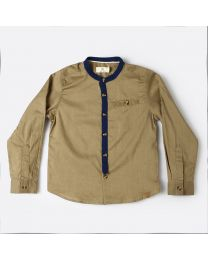 MT Marine Friend Khaki Marlin Baby Boy Shirt-babycouture.in