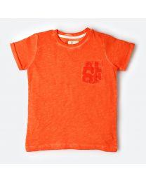 MT Marine Friend Orange Aloha Kids Tee-babycouture.in