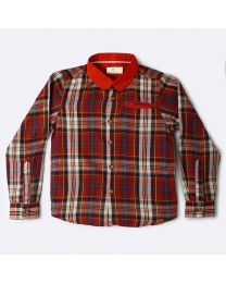 MT Marine Friend Red Check Perch Baby Boy Shirt-babycouture.in