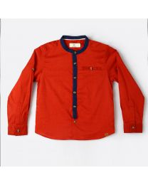 MT Marine Friend Red Marlin Baby Boy Shirt-babycouture.in
