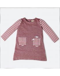 MT Marine Friend Red Remora Baby Girl Tunic-babycouture.in