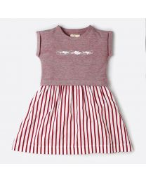 MT Marine Friend Remora Red Baby Girl Dress-babycouture.in