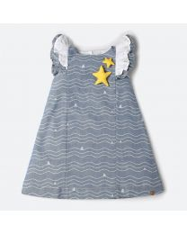 MT Marine Friend Star Fish Baby Whale Dress-babycouture.in