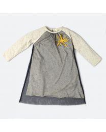 MT Marine Friend Urchin Black Baby Girl Dress-babycouture.in