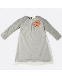 MT Marine Friend Urchin Grey Baby Girl Dress-babycouture.in