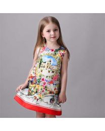 Paris Palace Kids Summer Dress-babycouture.in