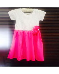 Pink & White Sunday Dress-babycouture.in