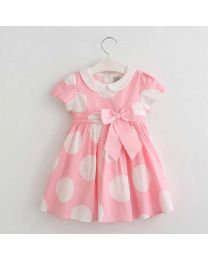 Pink Cotton Candy Summer Kids Dress-babycouture.in