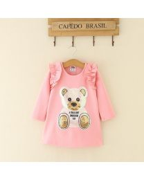 Pink Cutie Toy Kids Dress-babycouture.in