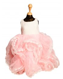 Pinkcow Ruffled Kids Party Dress-babycouture.in