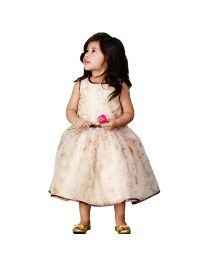Pinkcow Summery Floral Kids Dress-babycouture.in