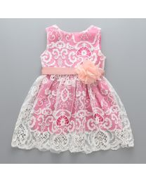 Pinky Love Crochet Summer Kids Dress-babycouture.in