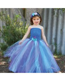 Pretty Peacock Love Blooming Tutu Dress-babycouture.in