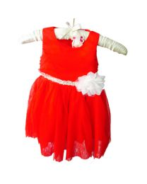 Pretty Red Cindy Love Party Dress-babycouture.in