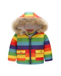 Rainbow Garden Lovely Kids Hooded Jacket -babycouture.in