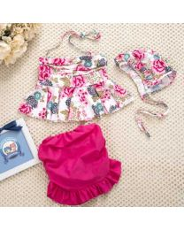 Rose Prints Lovely Flower Swimwear-babycouture.in