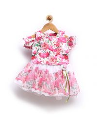 Rose Couture Floral Love Kids Skirt Top Set-babycouture.in