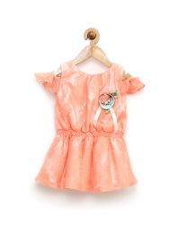 Rose Couture Lacey Gorgeous Kids Party Dress With Headband-babycouture.in