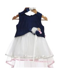 Rose Couture Net Flare Kids Party Dress-babycouture.in