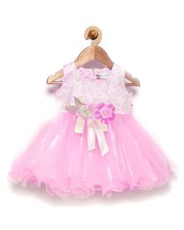 Rose Couture Vibrant Classy Kids Party Dress With Headband-babycouture.in