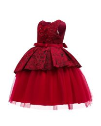 Ruby Red Harper Kids Dress-babycouture.in
