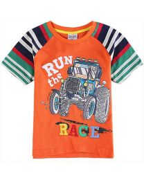 Run The Race Boys Tshirt-babycouture.in