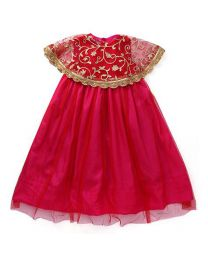 Saka Cape Style Traditional Kids Party Dress1