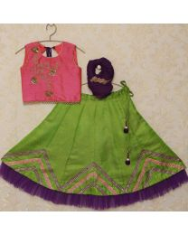 Saka Gorgeous Ethnic Designer Lehanga Choli Set -babycouture.in