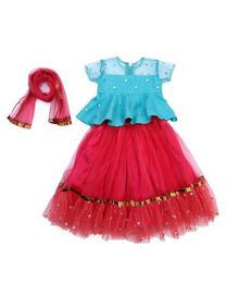 Saka Peplum and Tutu Style Kids Party Lehnga Choli Set-babycouture.in