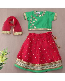 Saka Traditional Gota Patti Designer Kids Lehnga Choli Set-babycouture.in